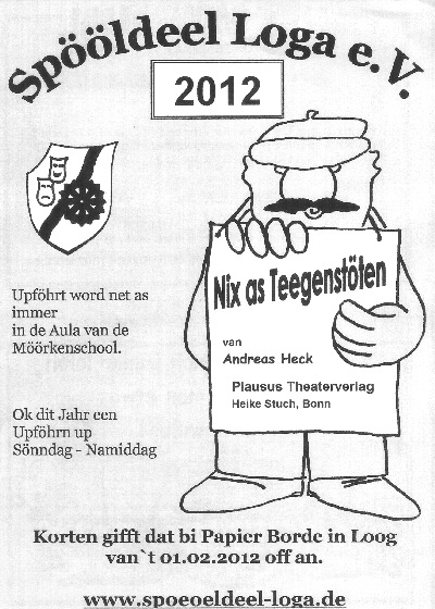 Plakat Spööldeel Loga - Nix as Teegenstöten