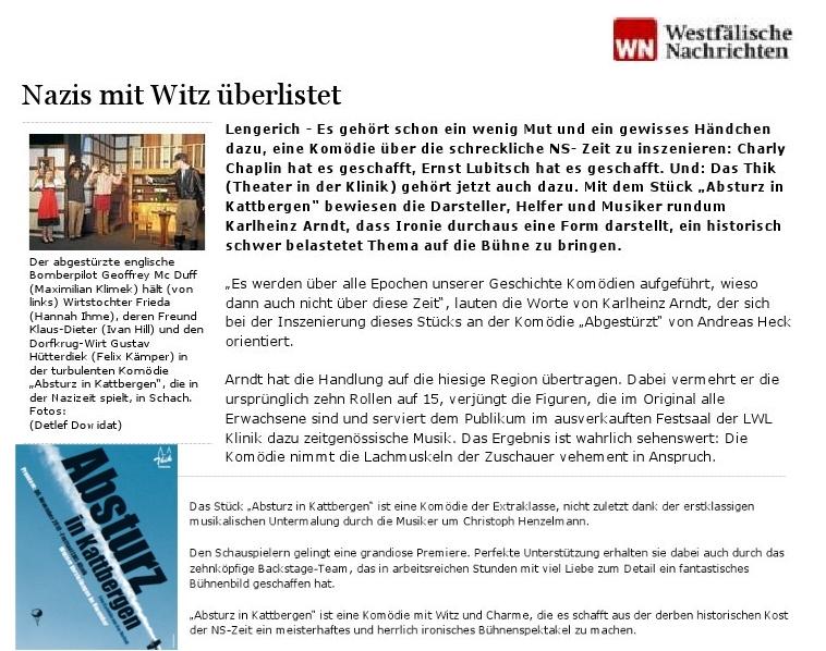 Artikel aus den Westfälischen Nachrichten