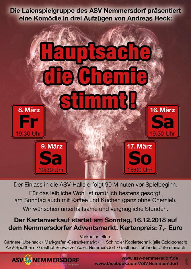 """Plakat des ASV Nemmersdorf zu """"Hauptsache die Chemie stimmt"""""""