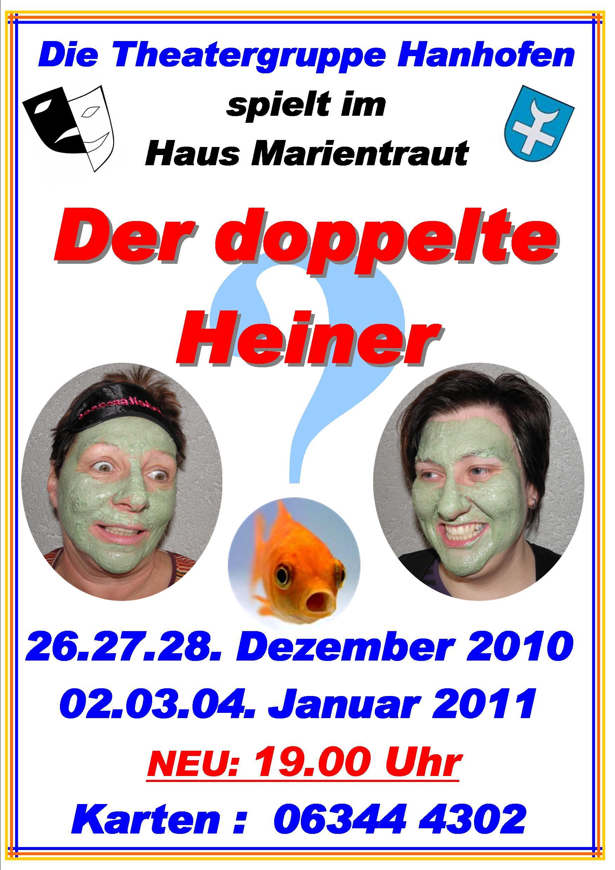 Plakat der Aufführung in Hanhofen