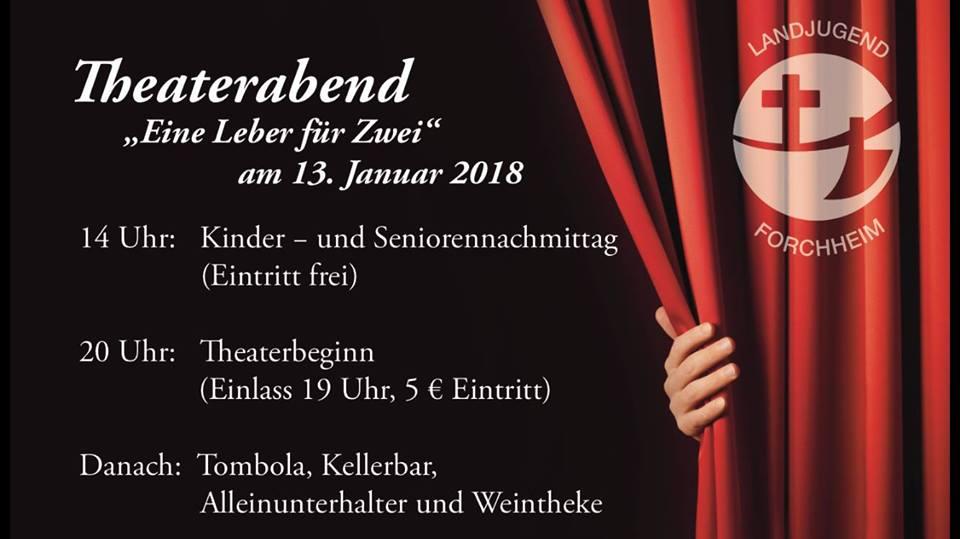 """Plakat der Landjugend Forchheim zu """"Eine Leber für Zwei"""""""