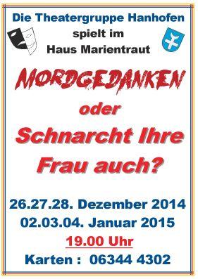 Mordgedanken - Plakat Theatergruppe Hanhofen e.V.