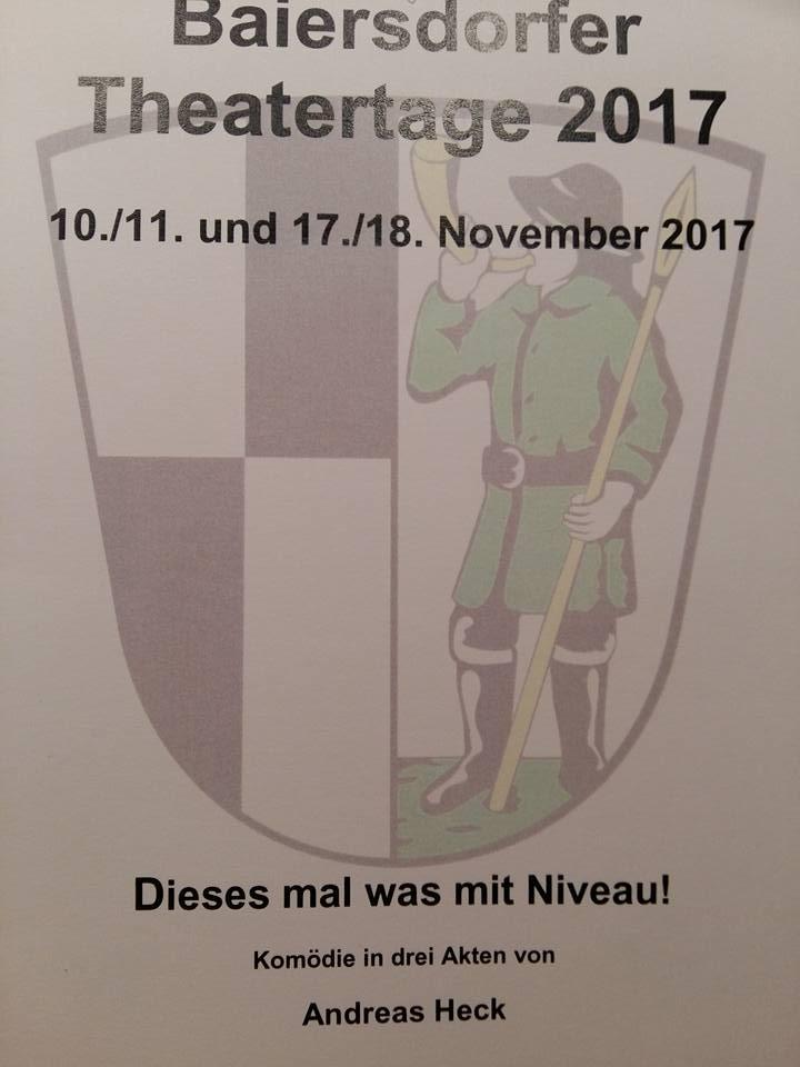 """Plakat Baiersdorfer Theatertage """"Dieses Mal was mit Niveau"""""""