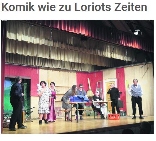 """""""Komik wie zu Loriots Zeiten"""" Artikel aus SZBZ.de von Matthias Staber mit freundlicher Genehmigung der Redaktion"""