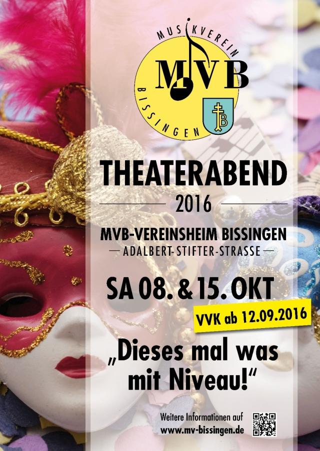 """Plakat der Theatergruppe des MV Bissingen zu """"Dieses mal was mit Niveau"""""""
