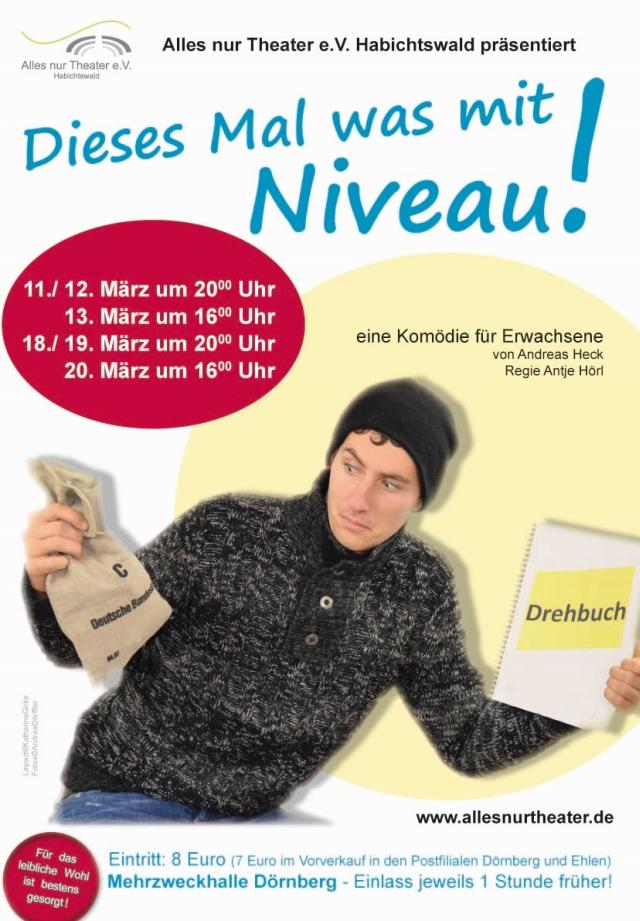 Plakat zu Dieses mal was mit Niveau von Alles nur Theater e.V. Habichtswald