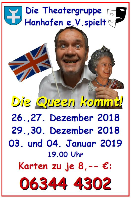 """Flyer der TGH zu """"Die Queen kommt!"""""""