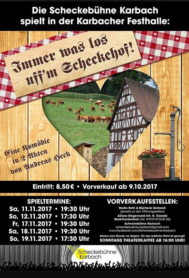 Plakat der Scheckbuehne Karbach zum Wellnesshof