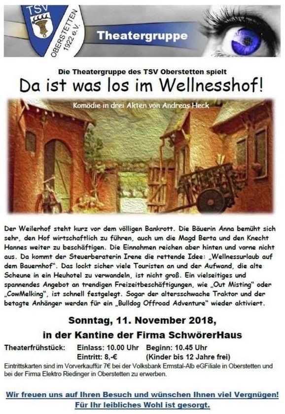 """Plakat des TSV Oberstetten zu """"Da ist was los im Wellnesshof"""""""