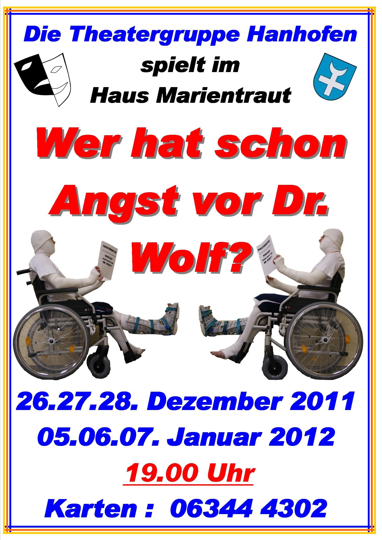 Plakat Doktor Wolf in Hanhofen