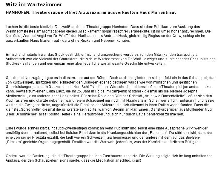 Aus der Speyerer Rundschau vom 28.12.2011