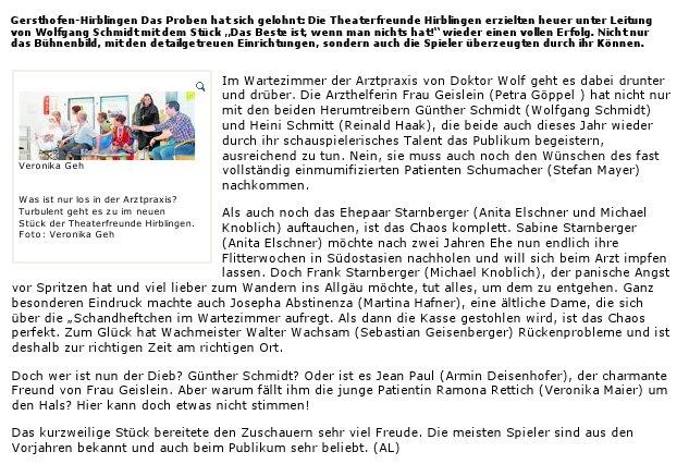 Artikel aus der Augsburger Allgemeinen