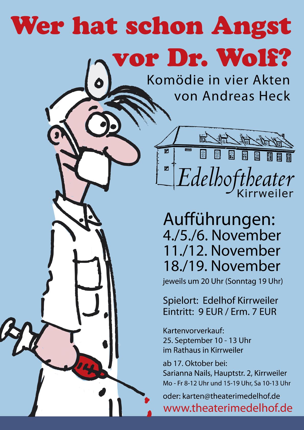 Plakat des Theaters im Edelhof in Kirrweiler