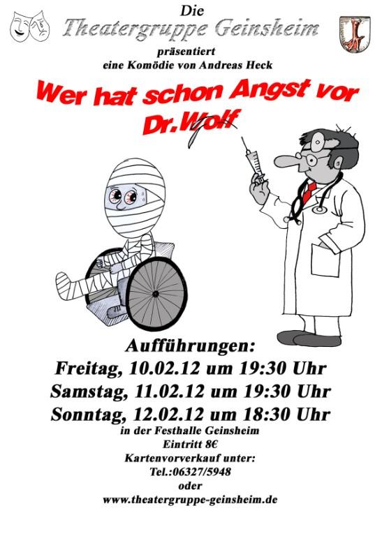 Plakat zu Doktor Wolf in Geinsheim