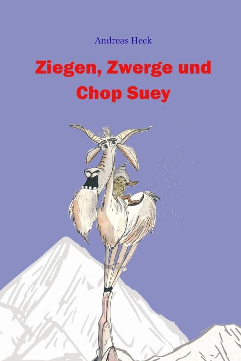 """Ausschnitt des Covers von """"Ziegen, Zwerge und Chop Suey"""" mit internem Link, Illustration von Martina Grimm"""