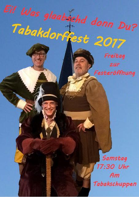 """Tabakdorffest 2017 Harthausen """"Ei was glaubst denn Du?"""""""